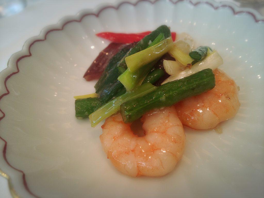 海老と季節野菜炒め