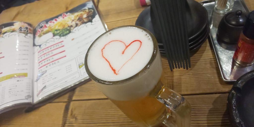 可愛い生ビール(しゃかりき432新福島店)
