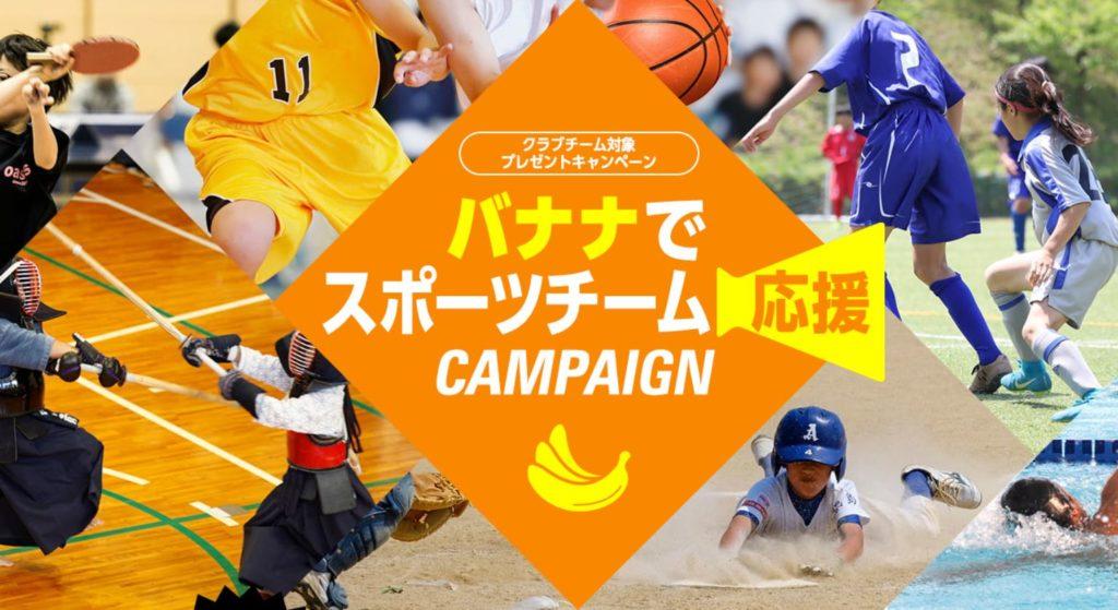 ドール様 バナナでスポーツチーム応援キャンペーン